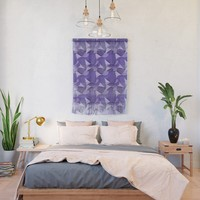 Ultra Violet Abstract Waves Wall Hanging by gx9designs
