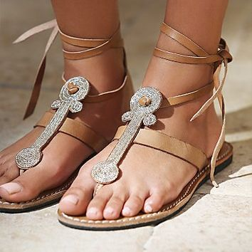 Womens Henley Beaded Sandal