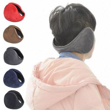 New Arrival Unisex Colorful Winter Fleece Warmer Earmuff Fashion Plush Cloth Ear Muffs For Men Women Accessories Y4