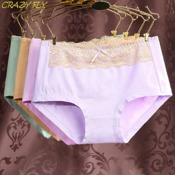 CRAZY FLY Hot Sale Cotton Underwear No Trace Cute Lace Lovely Sexy Underwear for Women Clothing Mother's Day gift