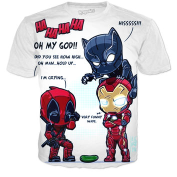 Deadpool antics tee