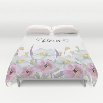 bloom Duvet Cover by Sylvia Cook Photography