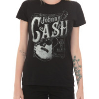 Johnny Cash The Man In Black Girls T-Shirt