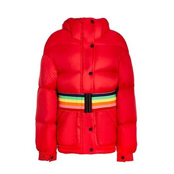 Perfect Moment - Kids' Oversized Parka Red Jacket