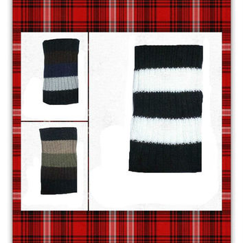 Women's Stripe Knit Boot Cuffs - You CHOOSE COLOR - USA Seller, gift