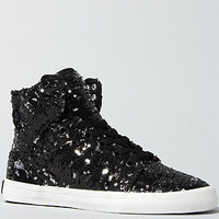 The A-Morir Skytop Sequined Sneaker in Black