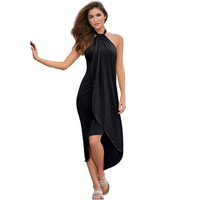 Bethany Halter Style Wrap Beach Dress/Cover-Up