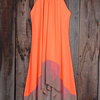 Poppoly Daisy Does It Candy Halter Maxi Dress