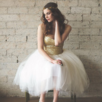 Gold Sequin Party Dress by Ouma