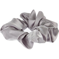 River Island Womens Grey satin hair scrunchie