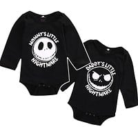 Halloween Skull Newborn Toddler Kid Clothes Mommy and Daddy Baby Boy Girl Long Sleeve Romper Play-suit Infant Outfit