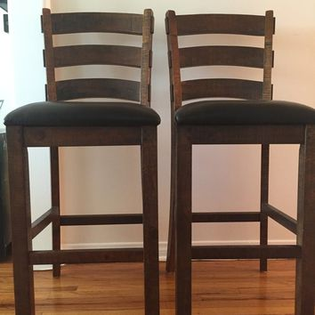 Modern but Rustic Bar Stools - set of 2