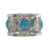 Ornate Filigree Stretch Bracelet: Charlotte Russe