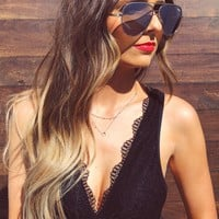 Love For Lace Bralette: Black