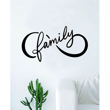 Infinity Family Wall Decal Sticker Bedroom Room Art Vinyl Home Decor Teen Kids Infinite Love Nursery Tattoo Forever