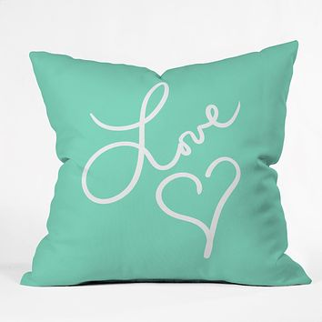 Lisa Argyropoulos Love Beat Throw Pillow