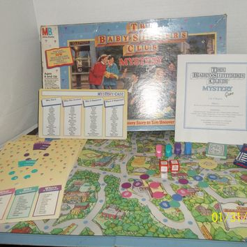 vintage 1992 milton bradley the baby sitters club mystery game complete