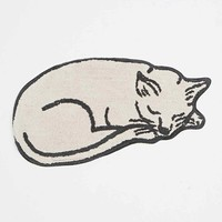 Sleeping Cat Bath Mat - Urban Outfitters