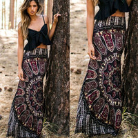 Skirts BOHO Hippy Women Summer Floral Vintage Long Maxi Skirt
