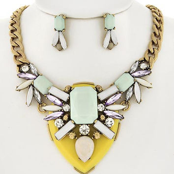 Chunky Statement Necklace Set
