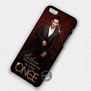 Colin O'Donoghue Captain Hook Once Upon A Time Pirate - iPhone 7 6 5 SE Cases & Covers