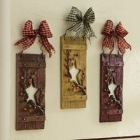 Collections Etc - Primitive Country Star Hanging Wall Decor