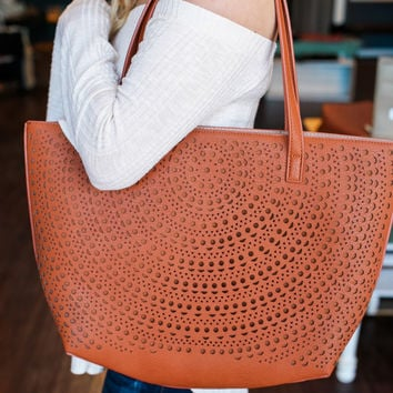 Down to Earth Tote - Camel