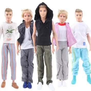 2017 UCanaan Randomly Pick 5 Sets Men Cool Casual Suit Clothes Prince Fashion Wear Outfit ForBabi Friend Ken Doll Best Gift Toys