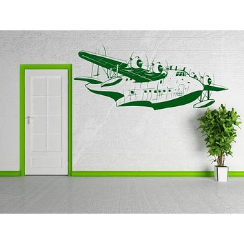 Vinyl Decal Heavy Bomber Airplane Jet Pilot Military Airforce Decor Wall Sticker Unique Gift (z2245)