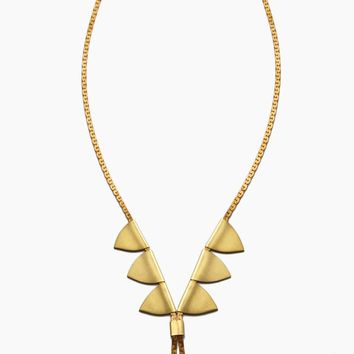 Vintage Chain Bolo Necklace - Gold Brass