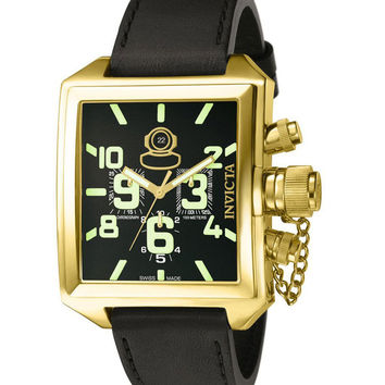 Invicta 7187 Men's Signature Russian Diver Gold Tone Chronograph Watch