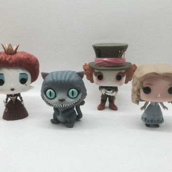 Imperfect Funko POP Second-hand Alice Through the Looking Glass Alice in Wonderland 2 Mad Hatter Cheshire Cat Red Queen No box