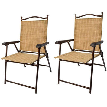 Outdoor Chairs Set Brown Patio Furniture Seats