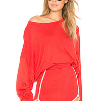 Wildfox Couture Solid Top in Red Flare | REVOLVE