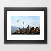 New York Framed Art Print by Haroulita | Society6