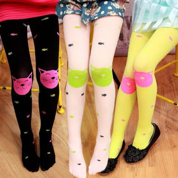 Autumn Baby Girls Tights Bearded Socks Jacquard Knitted Stocking Pantyhose Socks