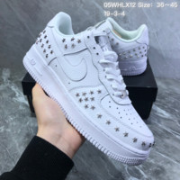 HCXX N826 Nike Air Force 1 Stars Pack Leather Rivet Low Casual Skate Shoes White