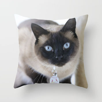 Innocent Expression Throw Pillow by Theresa Campbell D'August Art