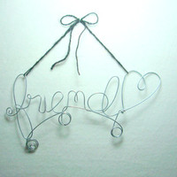 Wire Wall Hanging Word Picture Note Holder
