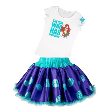 Disney Collection by Tutu Couture Ariel 2-Piece Tee and Skirt Set