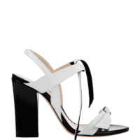 Alexandre Birman Candice Sandal - White Leather Sandal - ShopBAZAAR