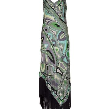 Emilio Pucci Vintage 1970S Printed Fringe Dress
