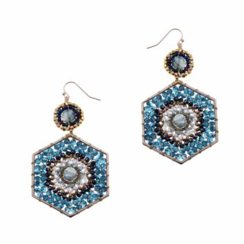 Nakamol Czech Crystals Beaded Earrings
