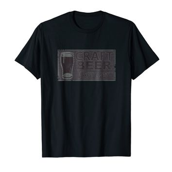 Craft Beer Brewer Distressed looking Beer Tee Shirt