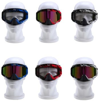 Motocross Goggles Eyewear Glasses Collapsible Motocross Motorcycle Helmet Goggles Ski/Skate Glasses Cafe Racer Glasses Sunglasse