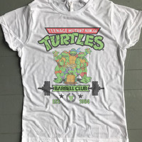 TMNT Teenage Mutant Ninja Turtles Barbell Club Women's Tee - BYFB Clothing