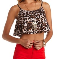 LEOPARD PRINT SWING CROP TOP