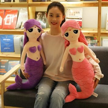 Cute Baby Dolls Plush Toys for Children With Cotton 30-80cm Cute Stuffed Toys for Girls Kids Mermaid Plush Toys