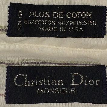 Sale!! Vintage CHRISTIAN DIOR Monsieur button downs cotton polyester oxfords shirt Made in USA