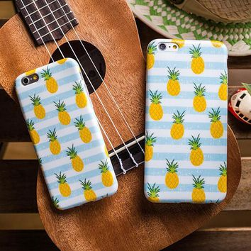 Cute Fruits Pineapple iPhone 5s 5se 6 6s Plus Case Cover-170928
